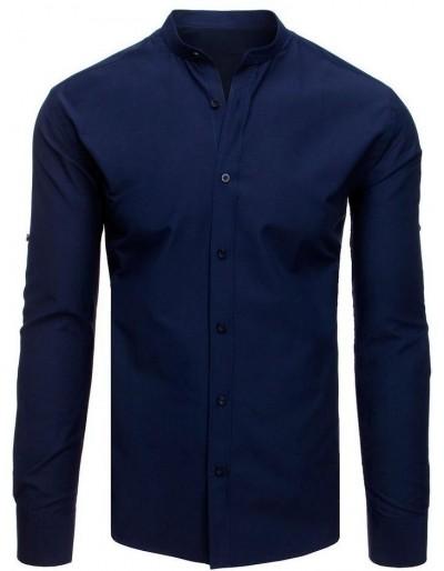 Elegantní tmavě modré tričko pro muže DX1876