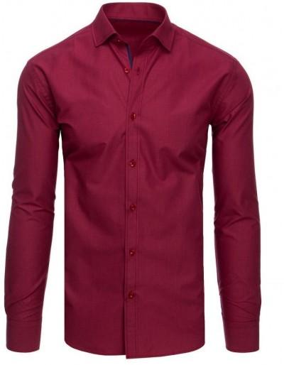 Vínová kostkovaná pánská košile DX1877