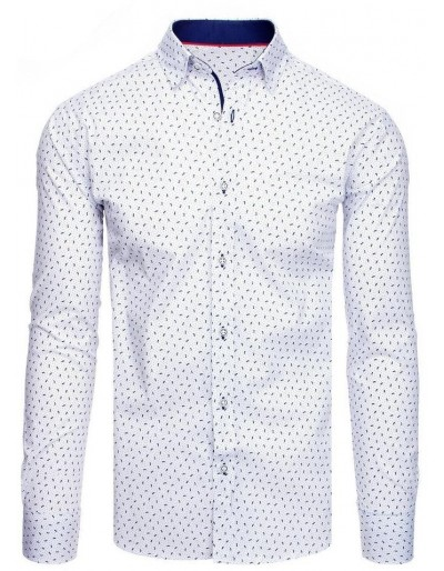Bílé pánské tričko se vzory DX1879