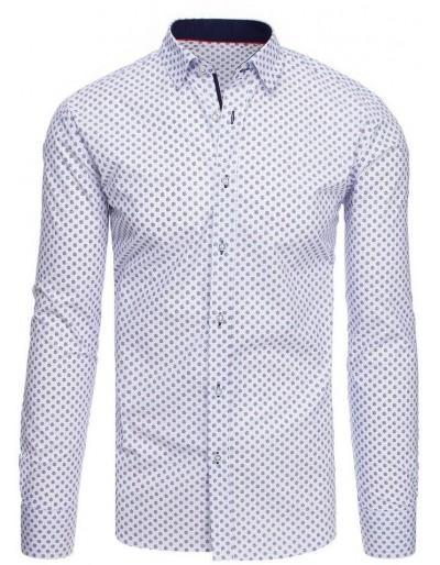 Bílé pánské tričko se vzory DX1880