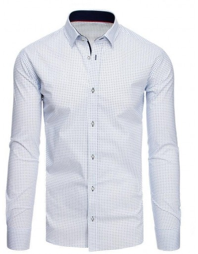 Bílé pánské tričko se vzory DX1881