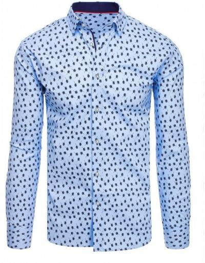Modré pánské tričko se vzory DX1882