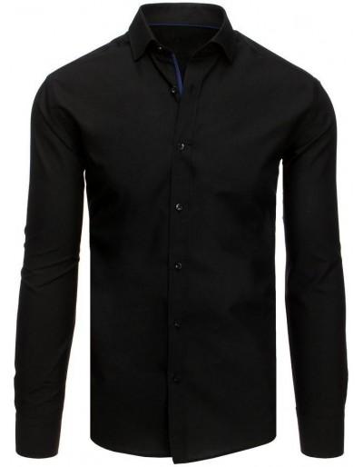 Černé elegantní pánské tričko DX1883