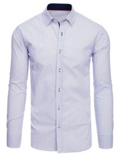 Bílé pánské tričko se vzory DX1884