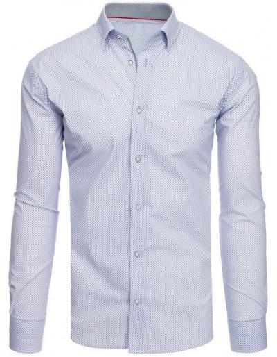 Bílé pánské tričko se vzory DX1886