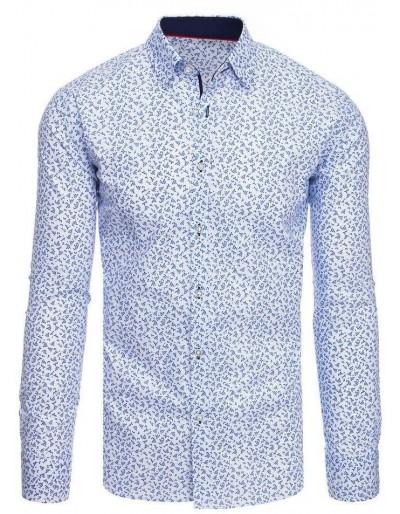 Bílé pánské tričko se vzory DX1887