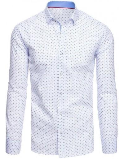 Bílé pánské tričko se vzory DX1888
