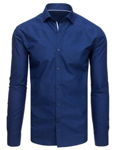Pánská modrá kostkovaná košile DX1889