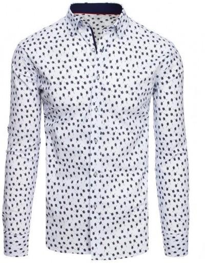 Bílé pánské tričko se vzory DX1891