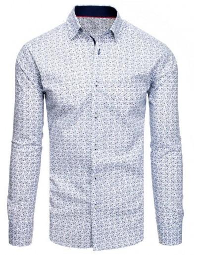 Bílé pánské tričko se vzory DX1892