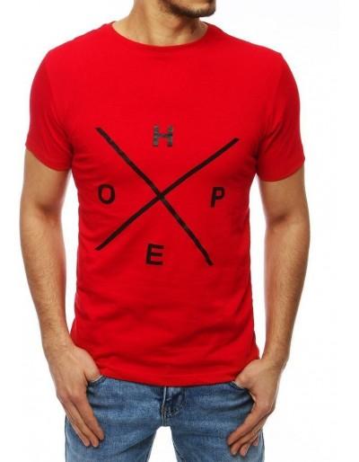 Červené pánské tričko RX4107 s potiskem