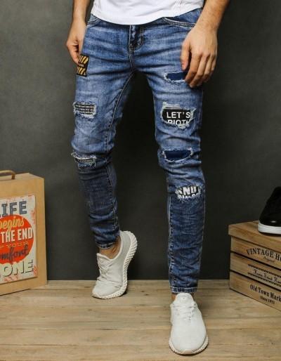 Pánské modré džínové kalhoty UX2479