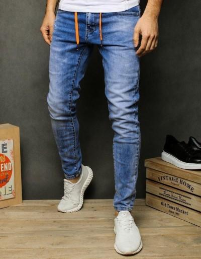 Pánské modré džínové kalhoty UX2481