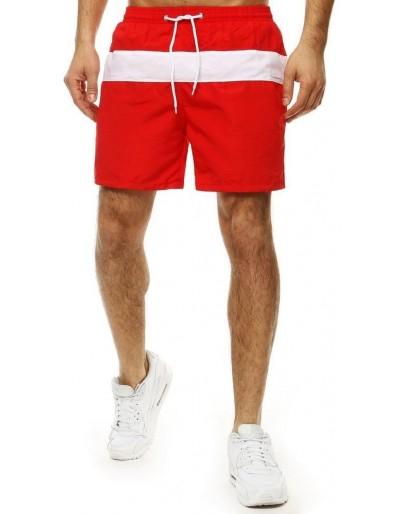 Pánské plavecké šortky červené SX2022