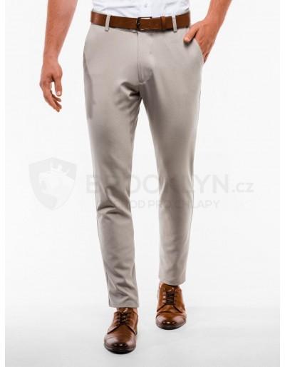 Pánské kalhoty chinos P832 - béžové