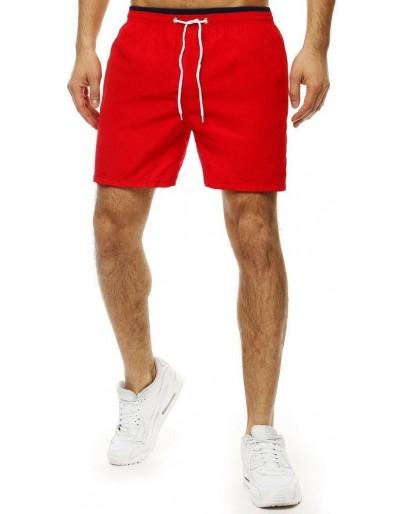 Pánské plavecké šortky červené SX2037
