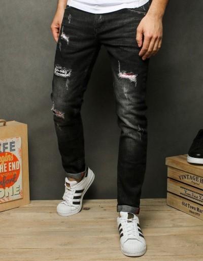 Pánské černé džínové kalhoty UX2516