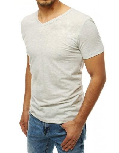 Světle šedé pánské tričko RX4118