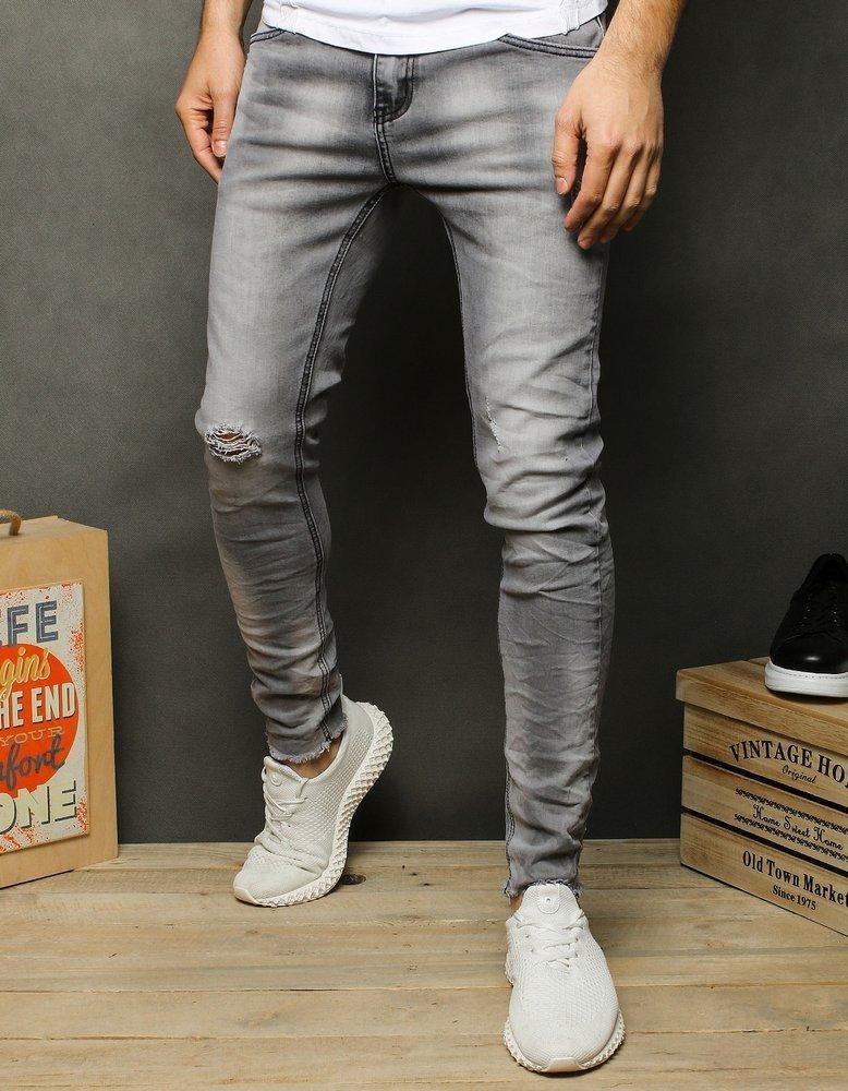 Pánské riflové džíny šedé UX2520