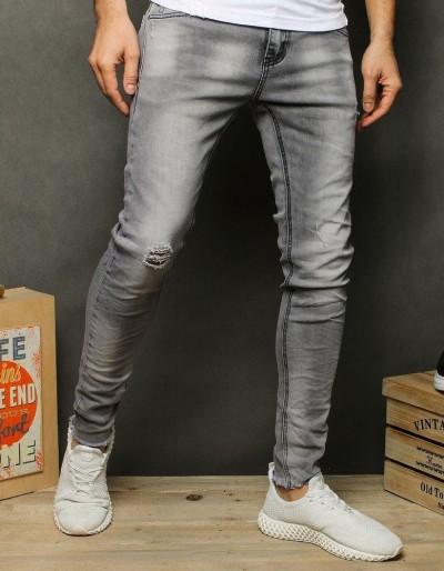 Spodnie jeansowe męskie jeasnoszare UX2520