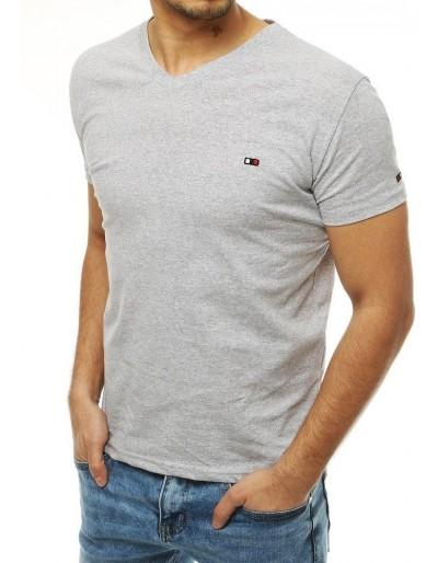 Světle šedé pánské tričko RX4119