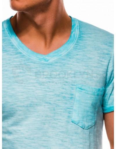Pánské obyčejné tričko S1053 - světle modré