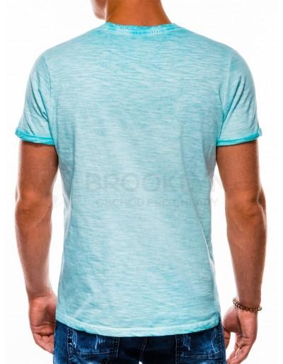 Men's plain t-shirt S1053 - light blue