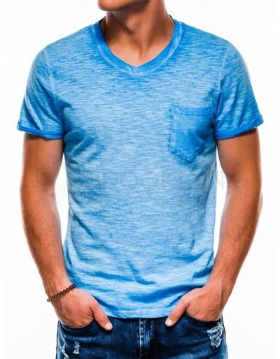 Pánské obyčejné tričko S1053 - modré