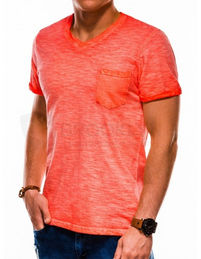 Men's plain t-shirt S1053 - orange