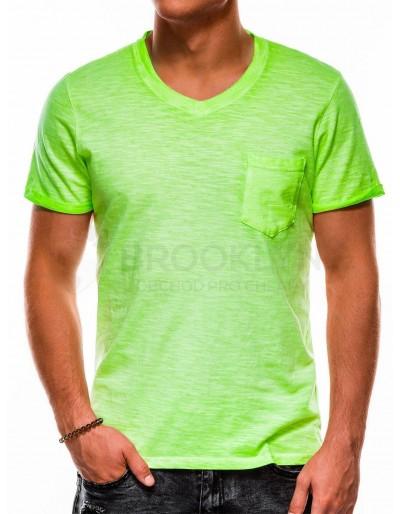 Pánské obyčejné tričko S1053 - zelené