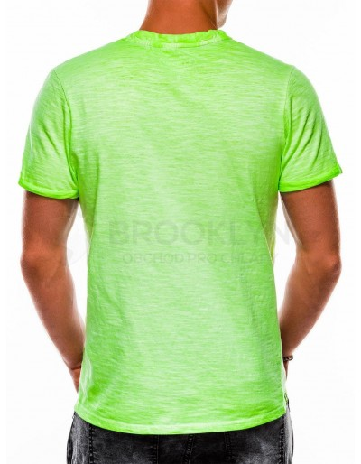 Men's plain t-shirt S1053 - green
