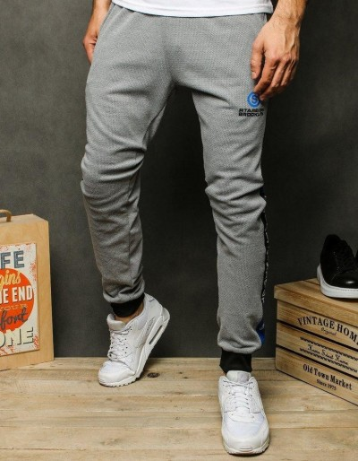 Spodnie męskie dresowe jasnoszare UX2532