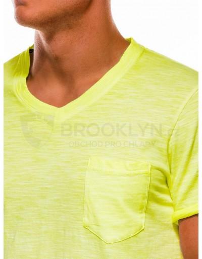 Men's plain t-shirt S1053 - yellow
