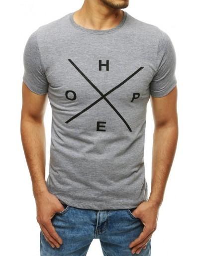 Světle šedé pánské tričko RX4145