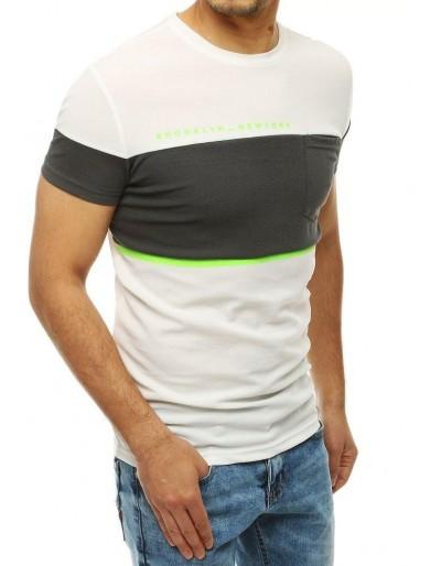 Bílé pánské tričko RX4152 s potiskem