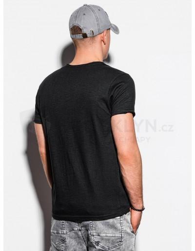 Men's plain t-shirt S1100 - black