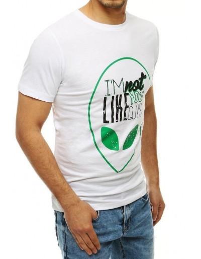 Bílé pánské tričko RX4154 s potiskem