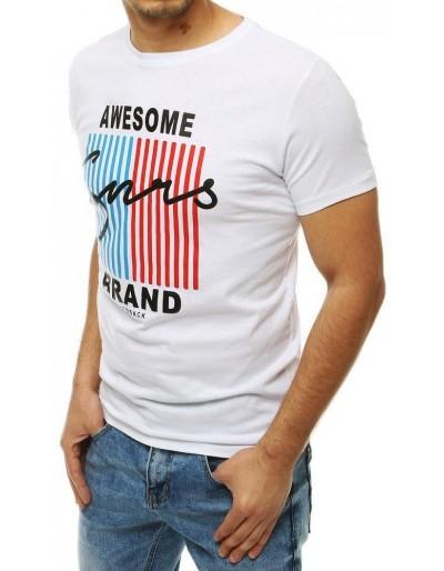 Bílé pánské tričko RX4173 s potiskem