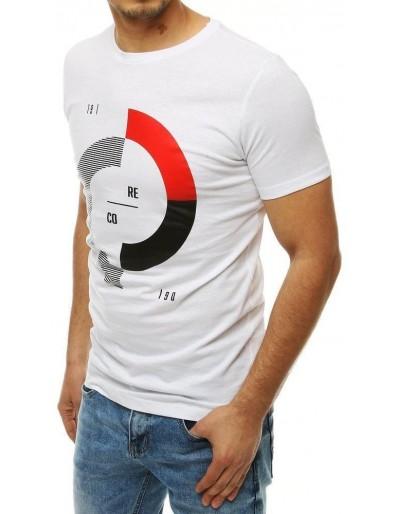 Bílé pánské tričko RX4179 s potiskem