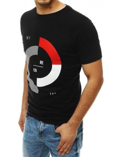 Černé pánské tričko RX4181 s potiskem