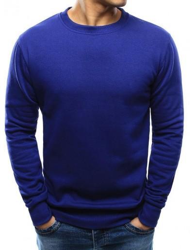 Pánská obyčejná modrá mikina BX4524