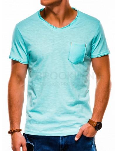 Pánské obyčejné tričko S1100 - tyrkysové