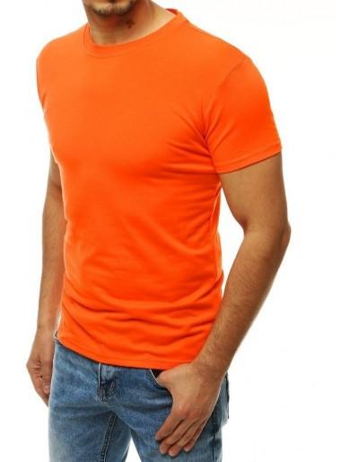 Oranžové pánské obyčejné tričko RX4187