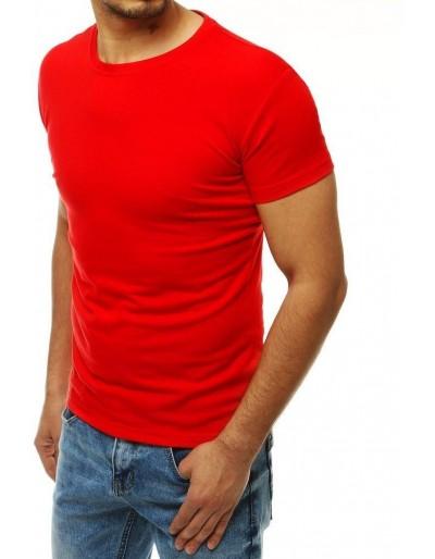 Červené pánské tričko bez potisku RX4189