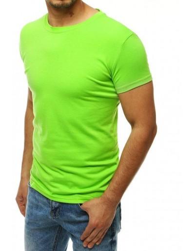 Pánské tričko bez potisku limetkově zelené RX4191