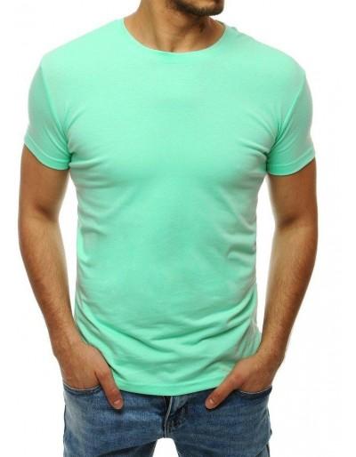T-shirt męski bez nadruku miętowy RX4193