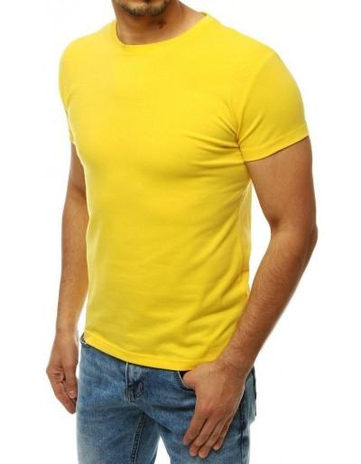Žluté pánské obyčejné tričko RX4194