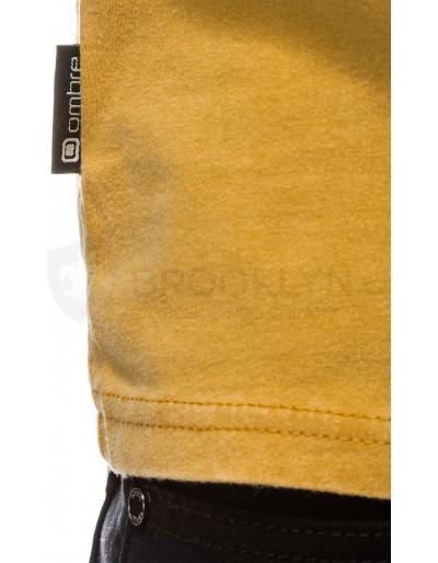 Men's plain t-shirt S1037 - yellow