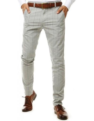 Světle šedé pánské chino kalhoty UX2563