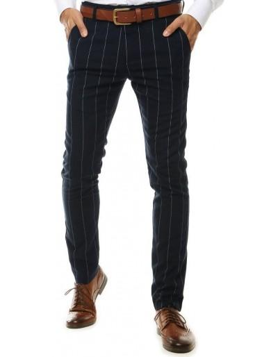 Pánské tmavě modré chino kalhoty UX2565